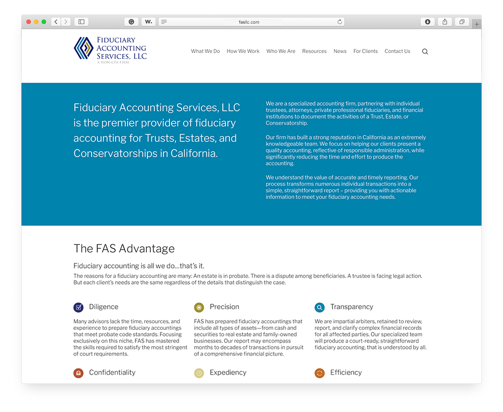 Fiduciary Accounting Services, LLC - New Home Page